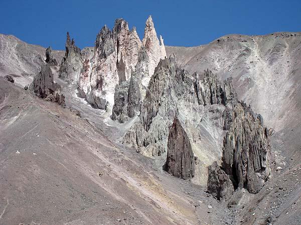 Причудливые скалы Памира