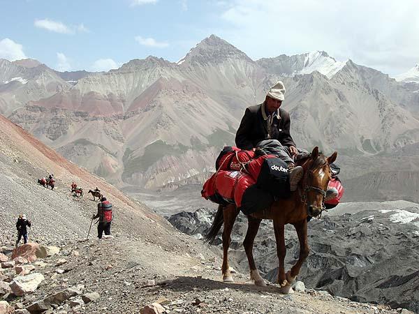 Перевозка грузов на лошади