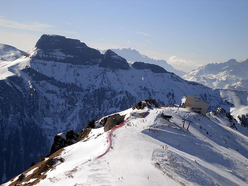 Горнолыжные трассы в доломитовых Альпах