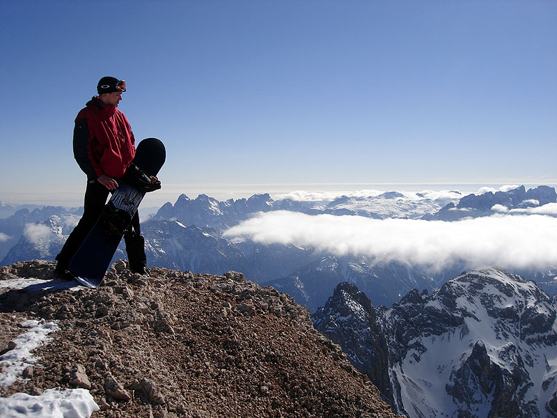Горнолыжное катание в Доломитовых альпах