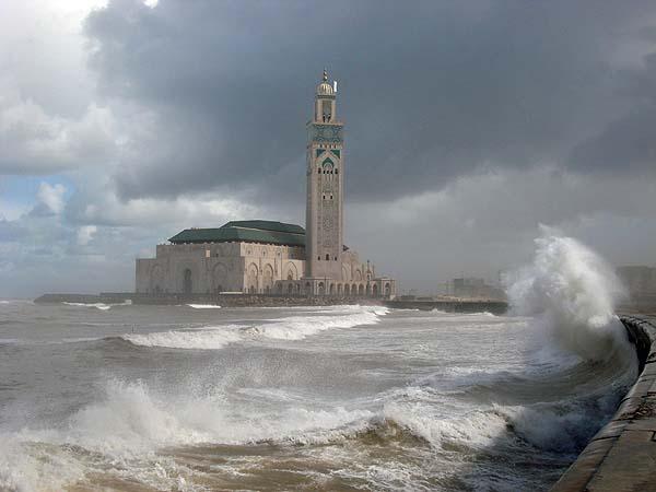 Касабланка: Атлантический океан, мечеть Хасана второго