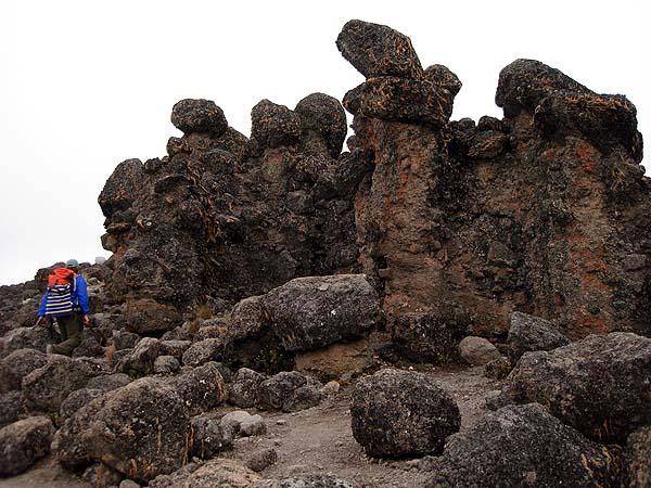 Лава из вулкана Килиманджаро