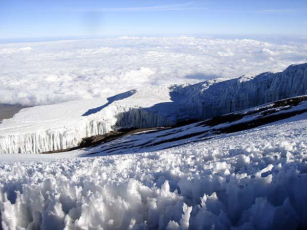 Ледник и снег на вершине Килиманджаро