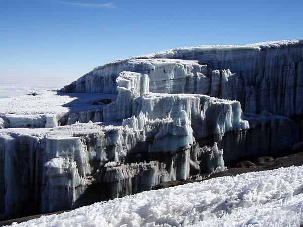 Ледник на вершине Килиманджаро
