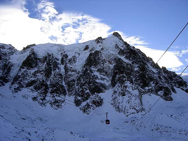 Подъемник на Эгюий дю Миди один из самых длинных и самых высоких в мире