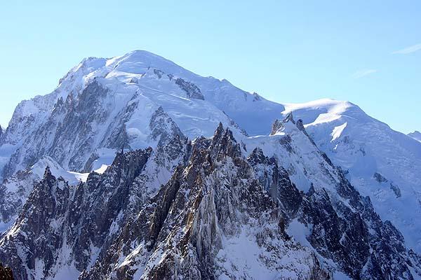 Вершина горы Монблан