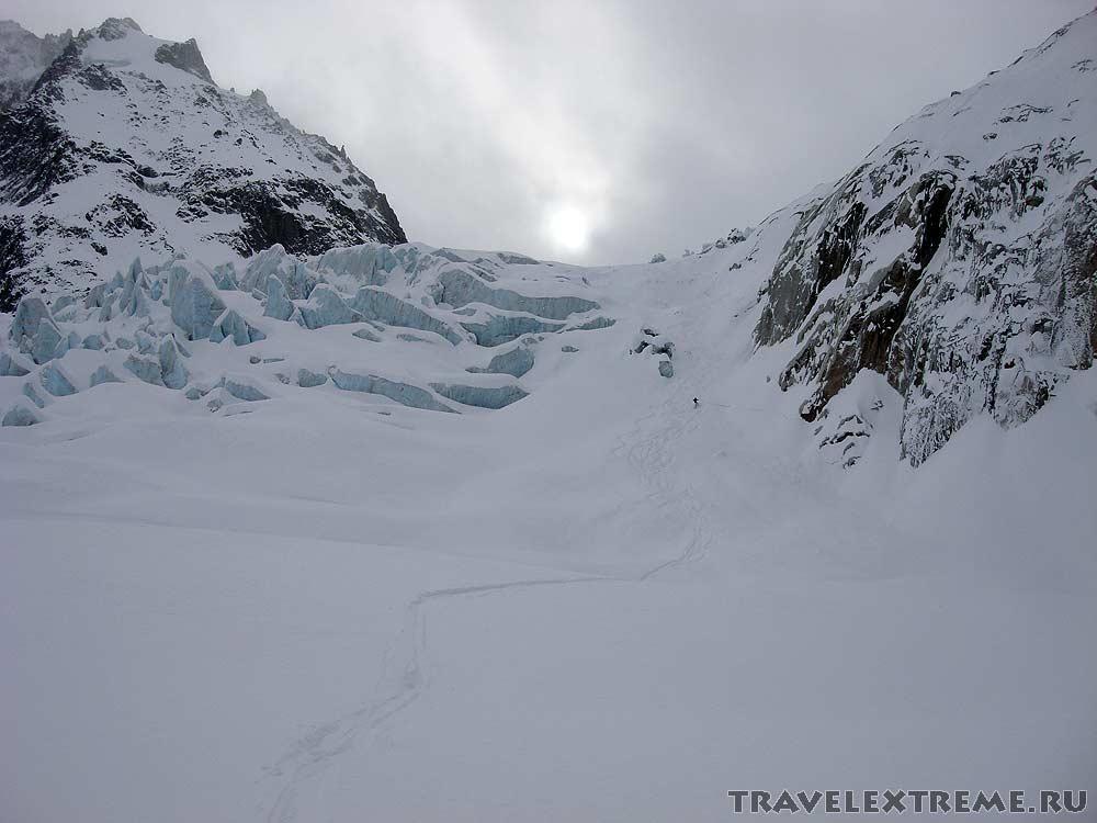 Белая Долина - ледник